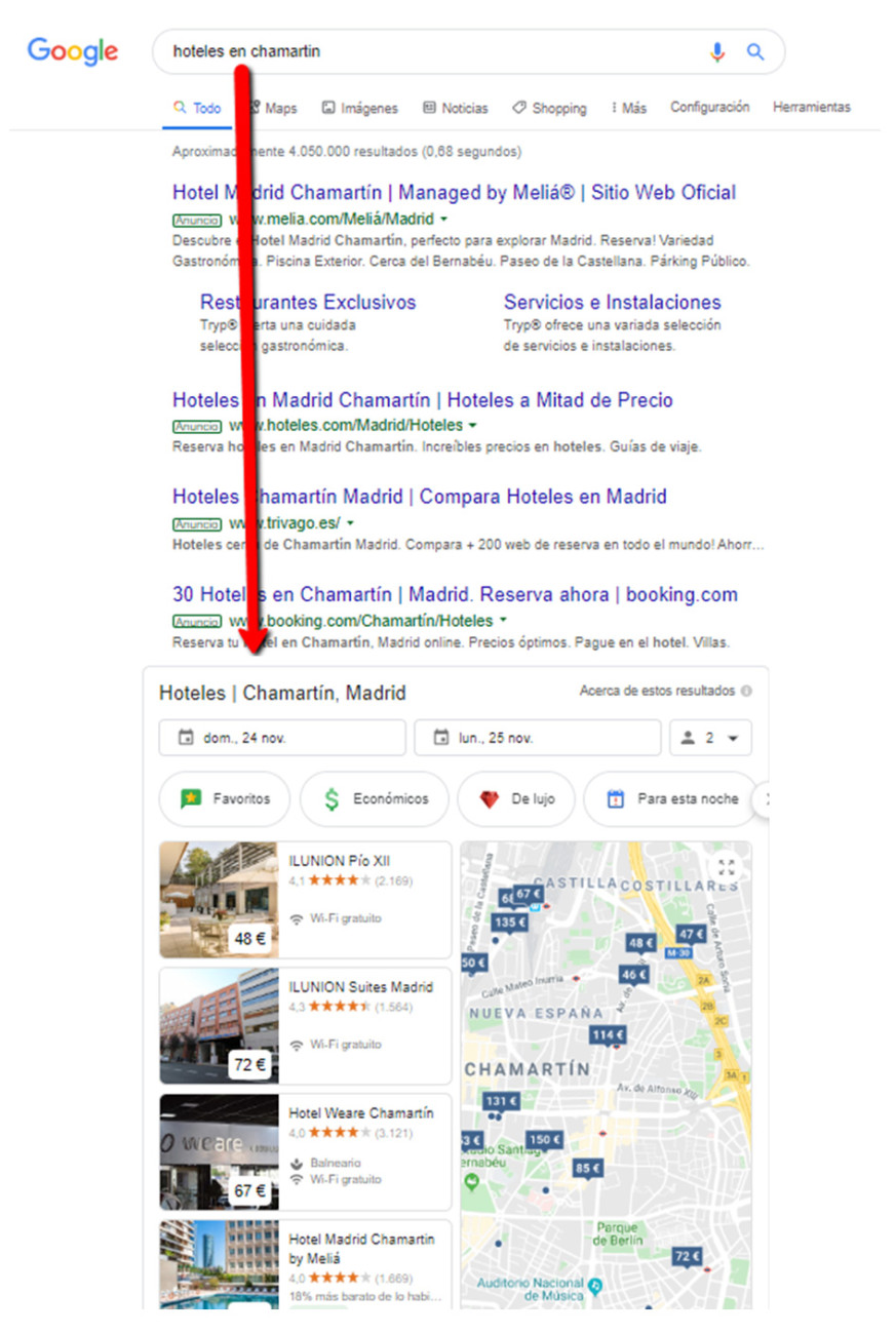 promoted hotels google